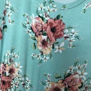 reb & j Dresses - Mint and Floral Maxi Dress